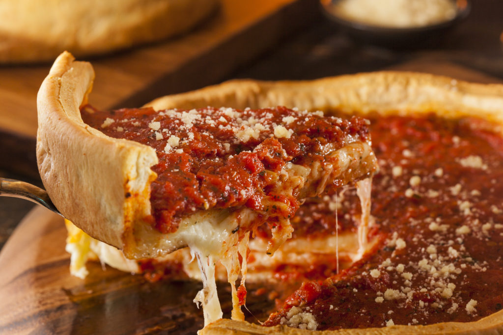Authentic Deep Dish Pizza